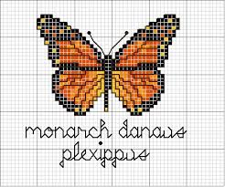 monarch butterfly no color chart simple pattern for mosaics