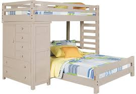 creekside stone wash twin twin student loft bed with chest bunk
