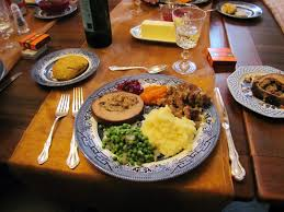 plate of thanksgiving food thanksgiving dinner hungry in the hammer