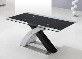glass chrome dining table furniture for home interior decoration with various glass