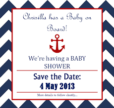 Nautical Save The Date Ahoy It U0027s A Boy U2013 Nautical Baby Shower 14 Oh 4