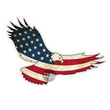 Eagles Flag American Flag Eagle Car Decal Sticker Patriotic Usa Bumper
