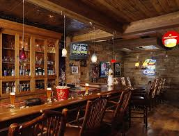 Rustic Bar Cabinet Liquor Cabinet Furniture In Basement Rustic With Exposed Basement