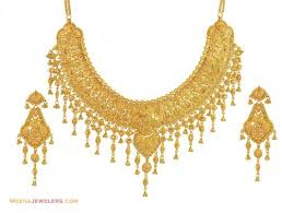 earring necklace set gold images 22k yellow gold bridal necklace set ajst54508 22k gold bridal jpg
