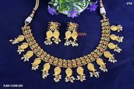 jewelry designs necklace sets images Traditional mango design necklace set jewellery at rs 1930 piece jpg