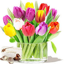birthday flowers tulips bouquet chocolates birthday flowers thank you