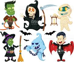 free halloween vector art halloween flat cartoon characters set stock vector art 479846046