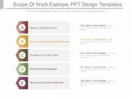 scope of work template work order proposal format download work