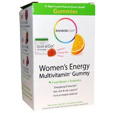 Rainbow Light Vitamins Rainbow Light Women U0027s Energy Multivitamin Gummy Delicious Orange