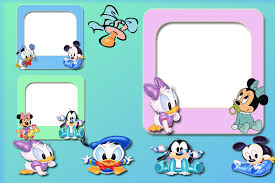 mickey and minnie babies and friends free printable frames