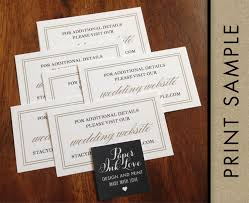 Wedding Registry Cards For Invitations Wedding Website Cards Enclosure Cards Wedding Registry Cards