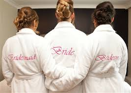 wedding dressing gowns personalised bridal robes bridal party bathrobes wedding