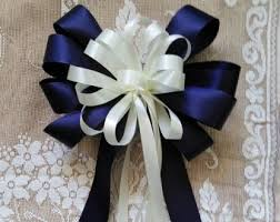 wedding bows wedding pew bows any color or hot pink and silver gray ribbon