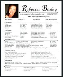 Resume Acting Template by Theatrical Resume Template Acting Resume Template Actor Resume