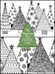25 unique christmas tree coloring ideas