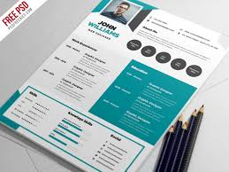 free creative resume template psd free psd ui download
