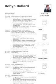 Front Desk Sample Resume by Paraprofessional Resume 16 Educational Resume Examples Master