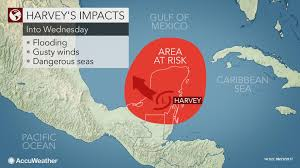 Map Of Eastern Caribbean by Harvey To Continue Risk Of Flooding In Central America