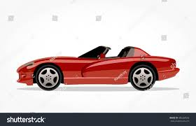 detailed side flat red convertible car stock vector 485264542