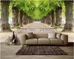 compare prices on space wall mural online shopping buy low price beibehang 3d wallpaper custom mural 3d room wallpaper forest road 3 d space background wall photo