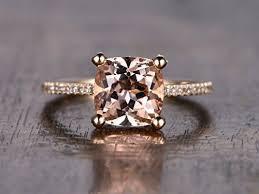 cushion ring morganite engagement ring cushion cut 8mm vs gemstone
