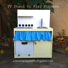 play kitchen from old furniture where u0027s my dream life upcycled tv stand to play kitchen