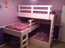 diy girls loft bed home decoration desk room decor ideas diy water kids triple room
