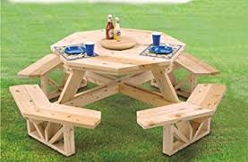 amazon com octagon picnic table woodcraft project woodworking