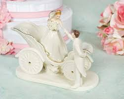 porcelain wedding cake toppers porcelain cinderella fairy tale coach cake topper