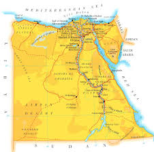 World Map Of Deserts Detailed Road And Physical Map Of Egypt Egypt Detailed Road And
