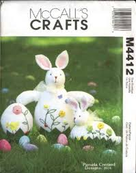 Easter Decorations Sewing by Sewing Pattern 4412 Easter Decorations Soft Sculpture Embroidered
