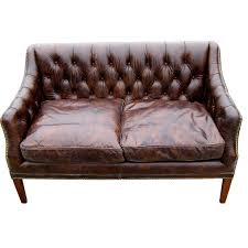 leather sofa with buttons tufted leather sofa at 1stdibs