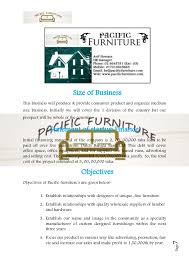 sample business plan cover page business plan sample on furniture