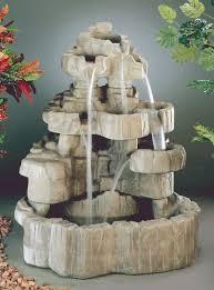 large cast stone rock falls fountain by henri studio water