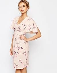 just gorgeous closet midi dress with angel sleeve spring