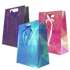 holographic bags holographic gift bags jam paper
