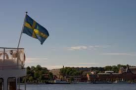 Blue And Yellow Cross Flag Swedish Flag Photo Page Everystockphoto
