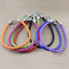 leather rope bracelet images Buy diy candy color pu leather cord bracelet handmade jewelry jpg