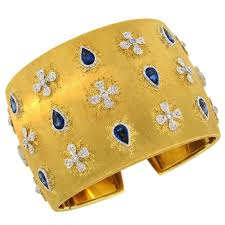 cuff bracelet from images Mario buccellati sapphire diamond gold cuff bracelet for sale at jpg