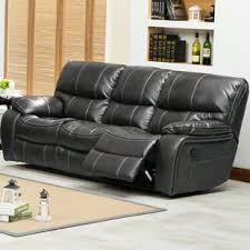 Gray Leather Reclining Sofa Flex Steel Reclining Sofa Wayfair