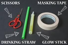 Glow Stick Halloween Costume Ideas Spoooky Masking Tape Mummy Hands