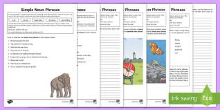 expanded noun phrases activity sheets homework spag activity
