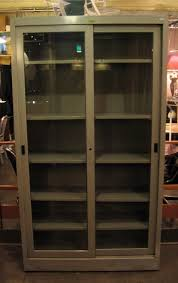display cabinet glass sliding doors large industrial metal and glass sliding door cabinet sold white