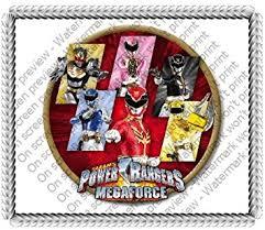 power rangers cake toppers 1 4 sheet power rangers megaforce edible image cake cupcake