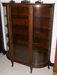 Vintage China Cabinets Oak Antique Bow Glass China Cabinet