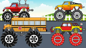 kids monster truck videos compilation monster trucks monster truck for children kids