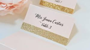 wedding place cards gold glitter wedding place cards blush and gold place card