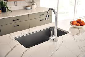 clean kitchen faucet sleek pull single handle kitchen faucet with duralock power
