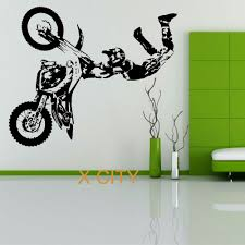 online get cheap bike wall decor aliexpress com alibaba group stunt bike motorbike x games mx wall sticker motocross dirt bike grapic creative vinyl art decal window mural home room decor