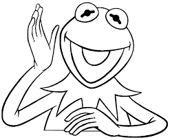 kermit the frog coloring pages kermit the frog excited sesame